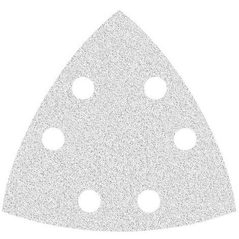 Feuilles abrasives auto-agrippantes MioTools pour Bosch, corindon normal avec stéarate, 93 mm, G40–400