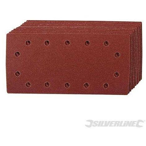 Feuilles abrasives auto-agrippantes perforées 1/2, 10 pcs, Grain 60