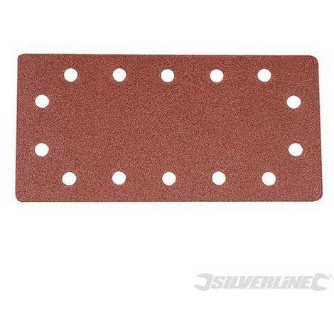 Feuilles abrasives auto-agrippantes perforées 1/2, 10 pcs, Grain 80