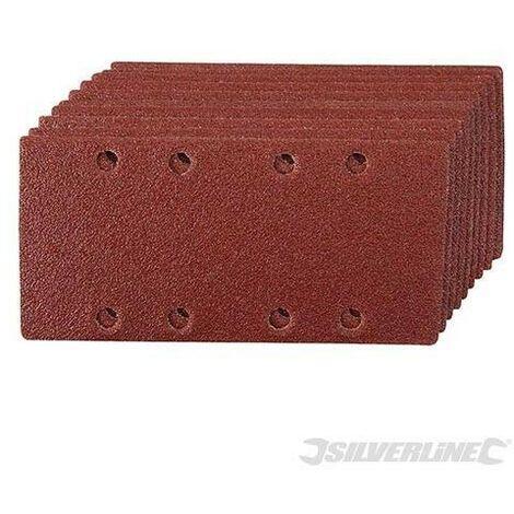 Feuilles abrasives auto-agrippantes perforées 1/3, 10 pcs, Grain 60