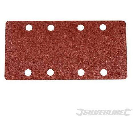 Feuilles abrasives auto-agrippantes perforées 1/3, 10 pcs, Grain 80