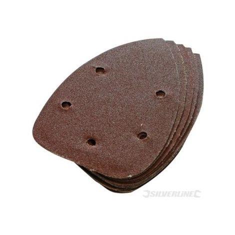 Feuilles abrasives auto agrippantes x10 140 mm, grain 80