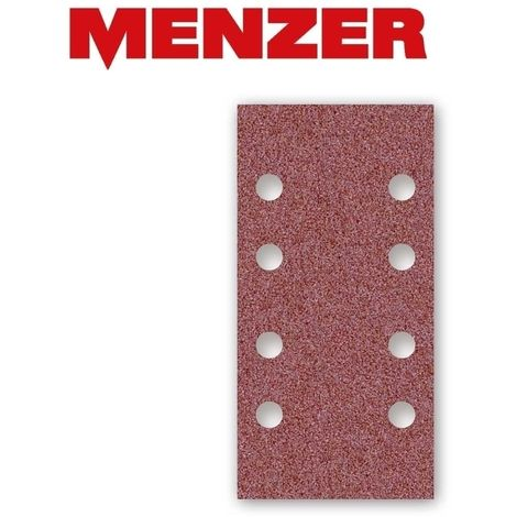 Feuilles abrasives auto-agrippants MENZER, corindon normal, 180 x 93 mm, G40–240