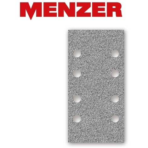 Feuilles abrasives auto-agrippants MENZER, corindon semi-précieux avec stéarate, 180 x 93 mm, G40–400