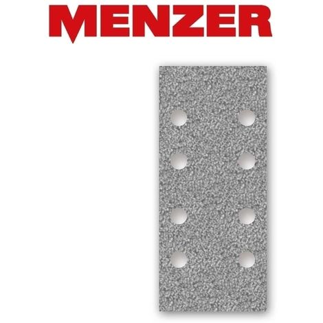 Feuilles abrasives auto-agrippants MENZER, corindon semi-précieux avec stéarate, 186 x 93 mm, G40–400