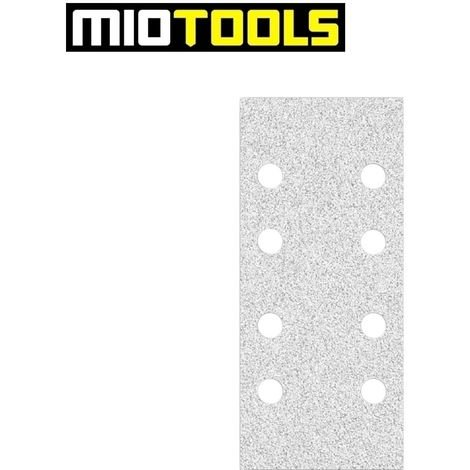 Feuilles abrasives auto-agrippants MioTools, corindon normal avec stéarate, 186 x 93 mm, G40–400