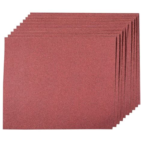 Silverline 372349 10 feuilles corindon pon/çage /à main Grain 180