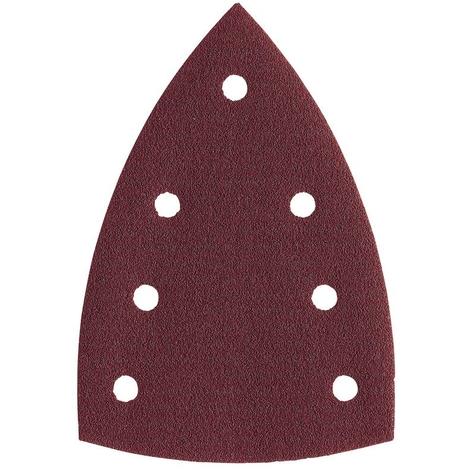 Feuilles abrasives MILWAUKEE - pour ponceuses Delta - 100x147 mm - grain 80 - carte de 10 feuilles - 4932355141