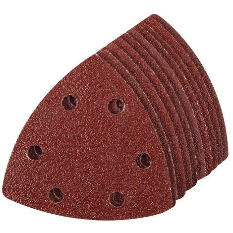 Feuilles abrasives triangulaires auto-agrippantes 90 mm, 10 pcs Grain 60
