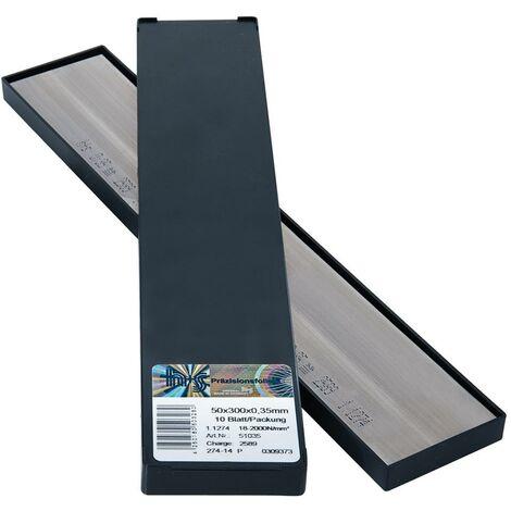 Feuilles clinquant en panneaux 50x300x0,10mm 10f/p H+S 1 PCS