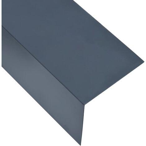 Feuilles d'angle 90° en L 5 pcs Aluminium Anthracite 100x100 mm