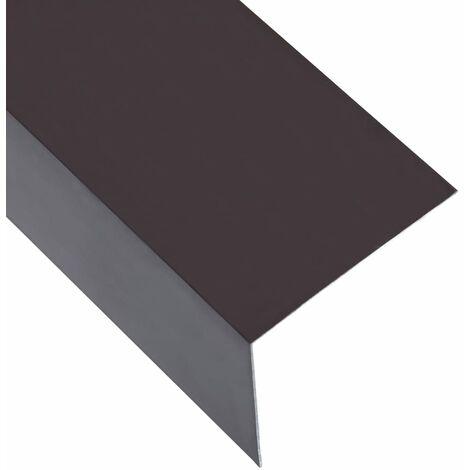 Feuilles d'angle 90° en L 5 pcs Aluminium Marron 100x100 mm