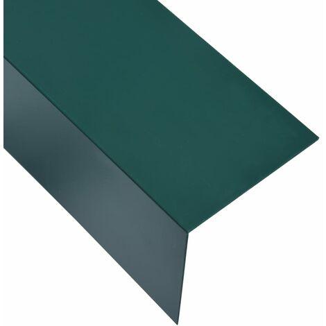 Feuilles d'angle 90° en L 5 pcs Aluminium Vert 100x100 mm