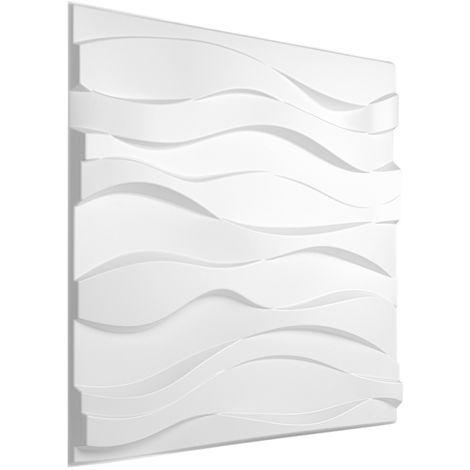 Feuilles de plastique 3D | panneaux PVC | résistants aux chocs de l'eau et aux impacts | 50x50cm | HD124