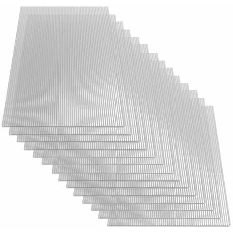 Feuilles de polycarbonate 14 pcs 4 mm 121x60 cm
