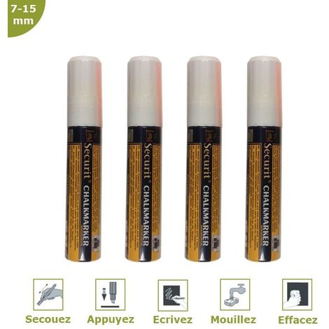Feutre-craie blanc 7-15 mm par 4 - Blanc - 15,5 - Blanc