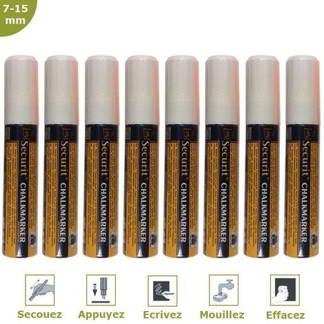 Feutre-craie blanc 7-15 mm par 8 - Blanc - 2,7 - Blanc