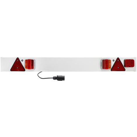 Feux arrière remorque 7 pôles 12V avec câble 6m approbation E4 réflecteurs