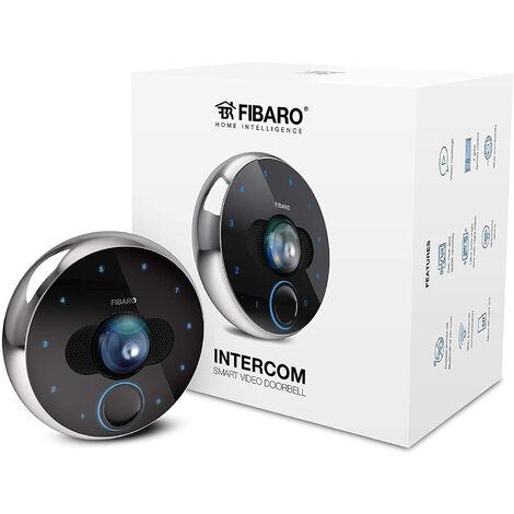 FIBARO - Intercomunicador/videoportero inteligente Full HD, 30 fps, 180 ° Ángulo de visión, infrarrojo y IP54, Fgic-002