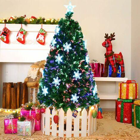 "main image of ""Fiber Optic Christmas Tree Artificial Xmas Tree W/Top Star&Snowflake"""