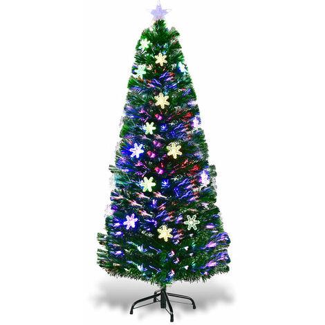 "main image of ""Fiber Optic Christmas Tree Color Changing Snowflake Decoration"""