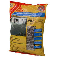 Fibers for concrete and mortar to replace structural mesh - SIKA SikaFibre Force 54mm - Grey - 300g
