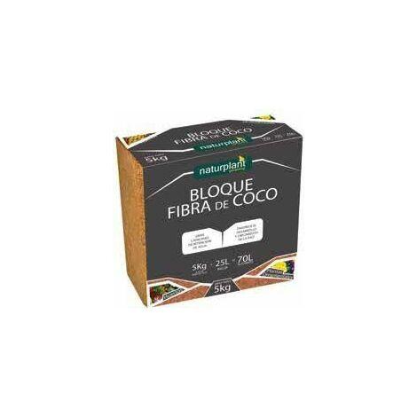 FIBRA DE COCO PRENSADO BLOQUE 5KG - 70 LITROS