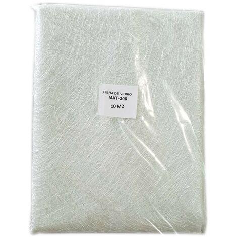 Fibra de Vidrio MAT-300 (densidad 300gr/m2) 10m2 para reparaciones