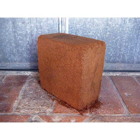 Fibra di cocco in mattonella, 50% frazione fine, 50% frazione grossolana (c.ca 3,5 kg - 70 lt)