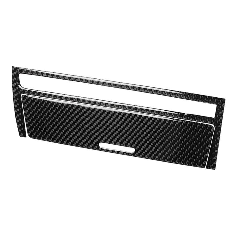 Fibre De Carbone Interieur Instrument Boite De Vitesses Tableau De Bord Cendrier Panneau De Rangement Cadre Autocollant Couverture Decorative Pour