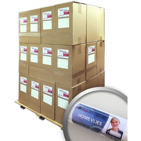 Fibre de rénovation Intissé à peindre 120 g Profhome HomeVlies 399-120 intissé de lissage 288 rouleaux 1535 m2