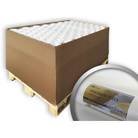 Fibre de rénovation intissé professionnel 150 g Profhome PremiumVlies 399-155 papier non-tissé à peindre 80 rouleaux 2000 m2