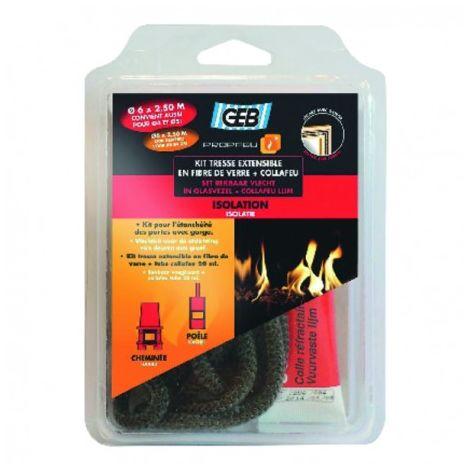 Fibreglass extendible sealing braid and Collafeu kit - GEB : 821592