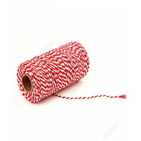 Ficelle de ficelle de coton, corde de chanvre de 656 pieds pour l'emballage de cadeaux, d'artisanat et d'art, parfaite pour la corde de cuisine, boulangers et bouchers
