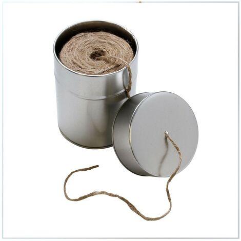 Ficelle en jute et boîte métal - Astuceo