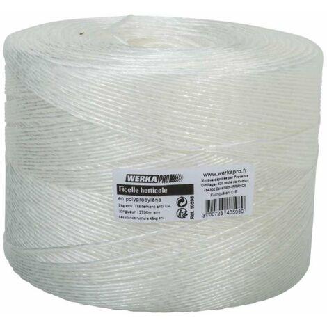 Ficelle horticole blanche bobine de 1700m Werkapro