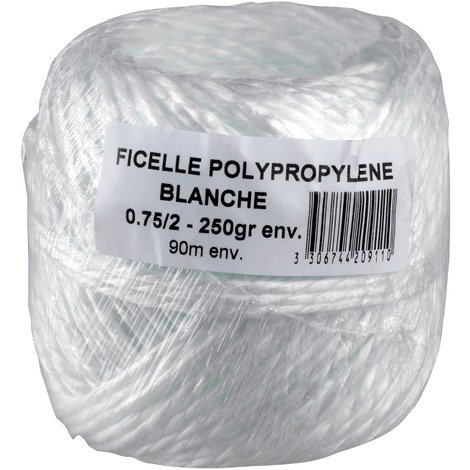 "main image of ""Ficelle polypropylène blanche Corderies Tournonaises"""