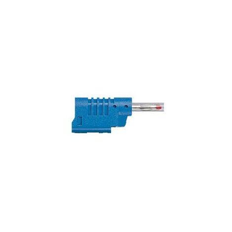 Fiche banane - Diamètre 4mm - 16A - Bleu