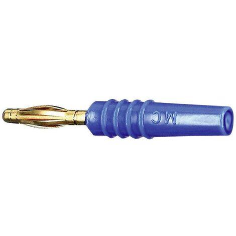 Fiche banane mâle Ø de la broche: 2 mm Stäubli SLS205-L 22.2618-23 bleu 1 pc(s) D29496
