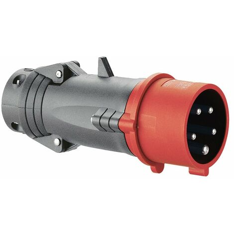 Fiche droite Hypra - IP44 - 16 A - 380/415 V~ - 3P+N+T - plast