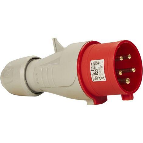 Fiche droite P17 IP44 32A 380/415V 3P+N+T plastique