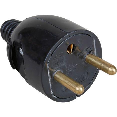 Fiche Électrique 61022 EUR'OHM Mâle Portefeuille 2P+T 16A Noir Sortie Droite