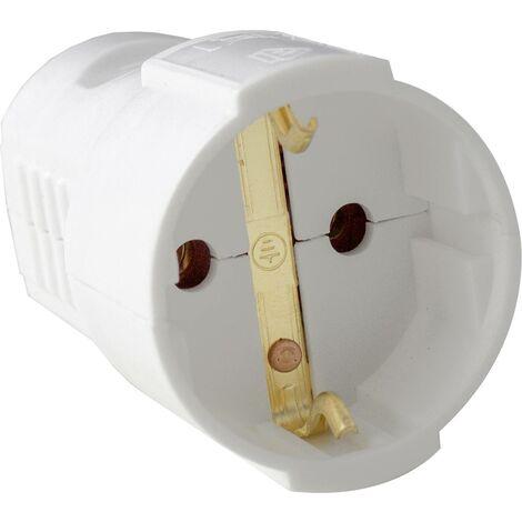 Fiche électrique femelle avec terre as - Schwabe 45011 45011 230 V blanc IP20 1 pc(s) C344481