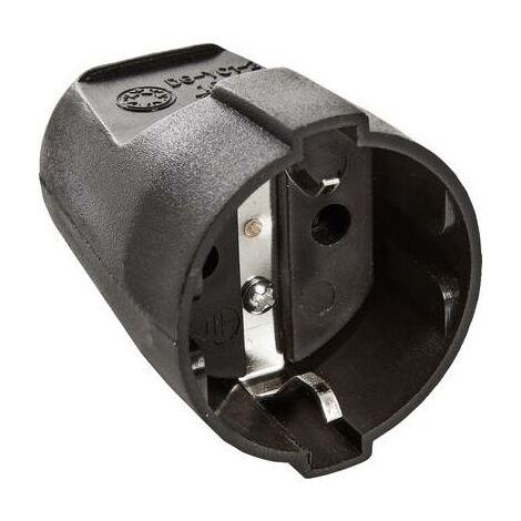 Fiche électrique femelle avec terre as - Schwabe 45012 45012 PVC 230 V noir IP20 1 pc(s)