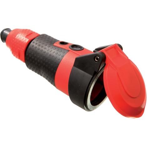 Fiche électrique femelle avec terre as - Schwabe 62243 62243 avec affichage de tension 230 V rouge IP54 1 pc(s) C341691