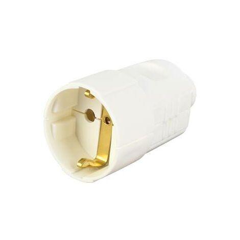 Fiche électrique femelle avec terre Bachmann 912.270 912.270 plastique 230 V blanc IP20 1 pc(s) C264731