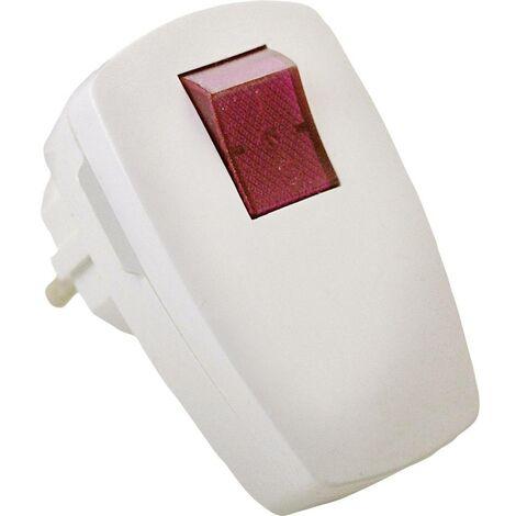 Fiche électrique mâle avec terre as - Schwabe 45034 45034 avec interrupteur 230 V blanc IP20 1 pc(s)