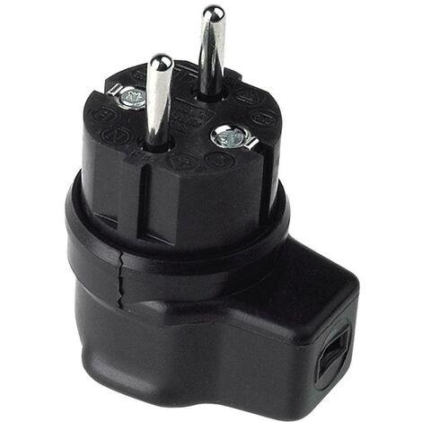 Fiche électrique mâle avec terre Bachmann 740.017 740.017 Tout caoutchouc 250 V noir IP44 1 pc(s) C207781