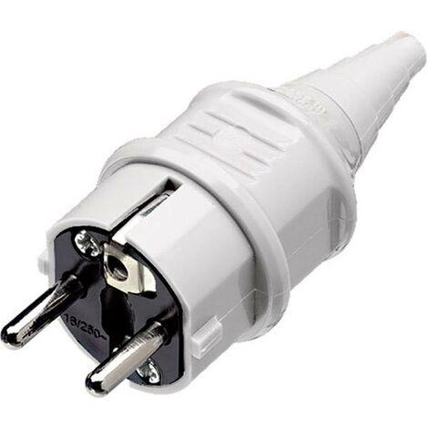 Fiche électrique mâle avec terre MENNEKES 10749 plastique 230 V blanc IP44 X062101