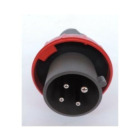 Fiche mobile droite Hypra IP66/67 - 55 32A - 380V~ à 415V~ - 3P+T - plastique LEGRAND 053060